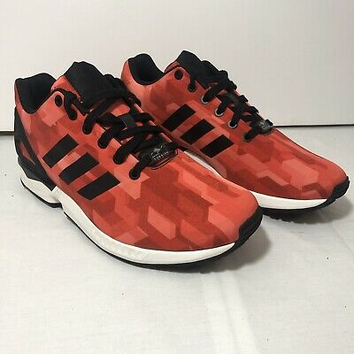 official photos 3860b 26b8c ADIDAS ZX FLUX Torsion Men's Trainers Predator Style Red Size 9.5 - New