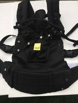 New Lillebaby Complete Airflow Infant Baby Toddler Carrier Black 6in1 Ergonomic