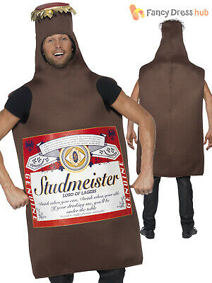 ADULT STUDMEISTER BEER Bottle Lager Mens Funny Fancy Dress