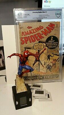 SPIDER-MAN -like film cell display sculpture hand painted limited Jack Thrasher
