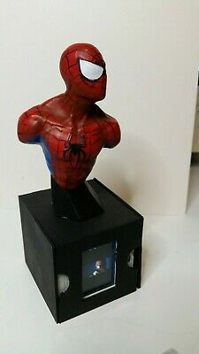 SPIDER-MAN Bust lighted film cell display sculpture hand painted Jack Thrasher
