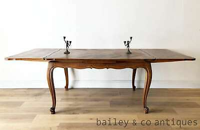 French Vintage Extension Dining Table Oak Louis Style - A RESTORER - OF020a
