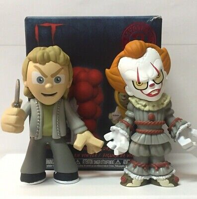 Funko Mystery Minis IT Chapter 2: Henry Bowers 1/12 and Pennywise 1/6 Lot Of 2
