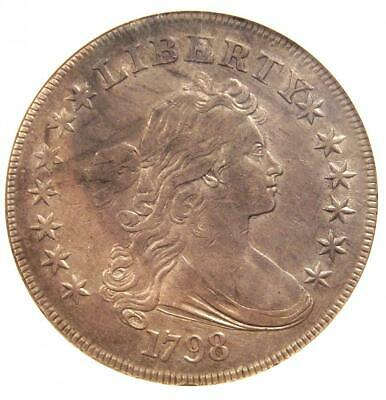 1798 Draped Bust Silver Dollar $1 - Certified ANACS XF Details (EF) - Rare Coin!