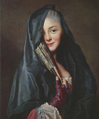 Portrait of Marie-Suzanne Roslin Classical Female Lady Woman Noble Oil Painting