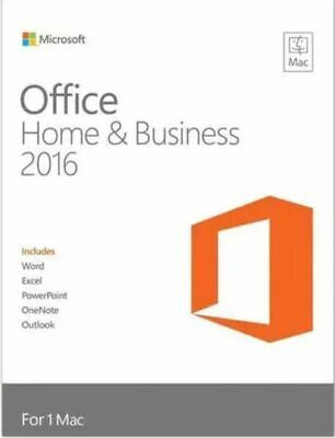 Microsoft Office Home and Business 2016- Mac Only- 1 User- Genuine- Instant