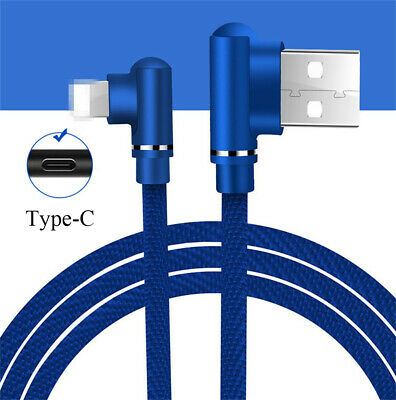 1M Type-C Heavyduty Braided Fast Charge USB C Data Phone Charger Cable