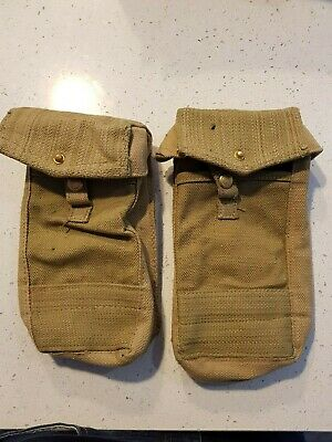 WWII WW2 Australian Pattern 37 Pouches Made by HOLDEN GMH markings