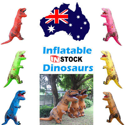 Kids Inflatable Adults Dinosaur T-REX Costume Child Halloween Blowup Outfit