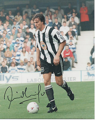 DAVID GINOLA Signed 10x8 Photo FRANCE & NEWCASTLE UTD COA