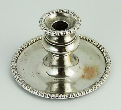 Small GEORGE III OLD SHEFFIELD PLATE TAPERSTICK c1810