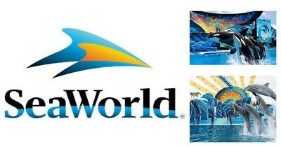 2x One Day General Admission Tickets - Seaworld Sea World San Diego Exp 09/30/19