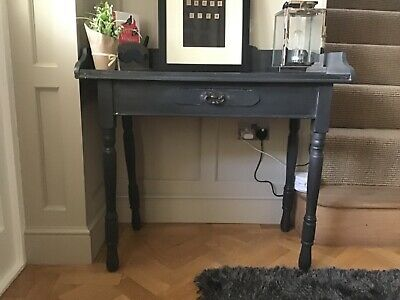 Victorian washstand/Writing Desk/Console painted in Annie Sloan Graphite