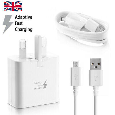 Wall Adaptive Fast Charger Head Plug&Charging Cable For Samsung Galaxy S7 Edge #