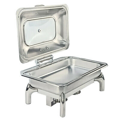 1/1 Pan Chafing Dish Food Warmer Catering Stainless Steel Container Buffet  9L