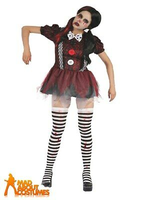 Adult Ladies Dead Doll Dress Costume Halloween Womens Fancy Dress Outfit