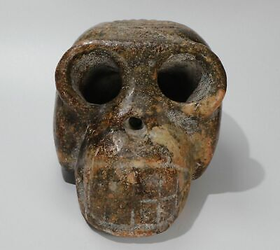 Chinese jade carved Hongshan culture style skull statue weight 1940g