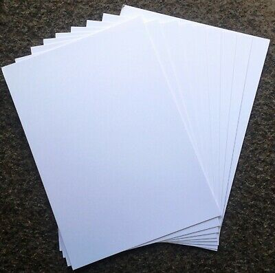 20 sheets x A4 Smooth White Ivory Board Card 335gsm Arts & Crafts MP19060