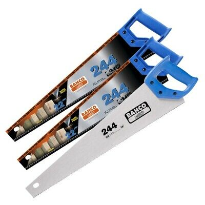 "Bahco 22"" 244 Hard Point + 1x 22"" 244 Fine Cut Wood/Timber Cutting Hand Saw"