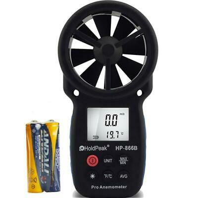 HOLDPEAK 866B Digital Anemometer Handheld LCD Wind Speed Meter for HP-866B