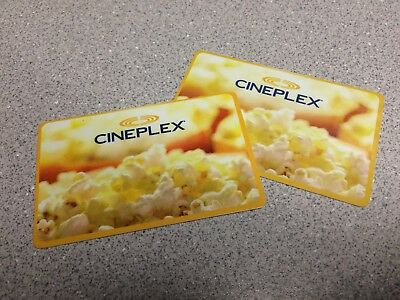Two (2) $50 Cineplex Cards - $100 Total