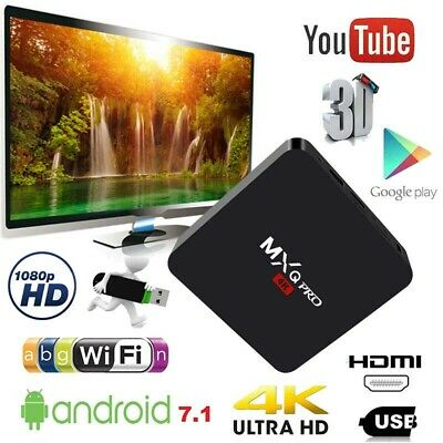 2019 Home MXQ PRO 4K HD TV Box Android7.1 H3 Quad Core 3D 8GB WiFi Media Player