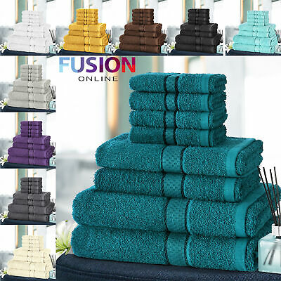 8pc Towel Bale Set Luxury 100% Egyptian Cotton Face Hand Bath Bathroom Towels