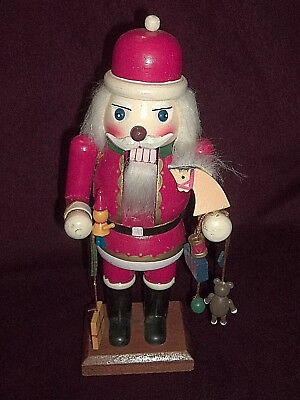 "12"" Wooden Hand-Painted Santa Claus w/ Toys & Gifts Nutcracker  Ernst 344-826 *"