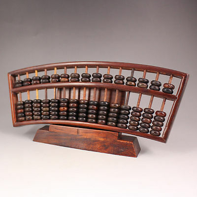 chinese red wood Hand-carved Antiquity Calculation Tools abacus An abacus RR003
