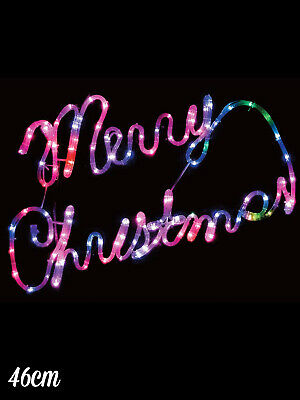 Merry Christmas Rope Light 75cm Colour Changing LED Xmas Decoration Outdoors