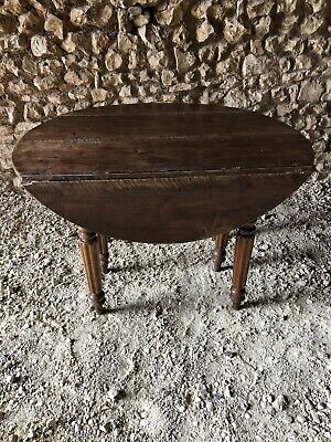 French Drop Leaf Round Table