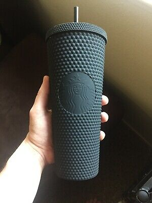 Starbucks Matte Black Studded Tumbler Cup In Hand Limited