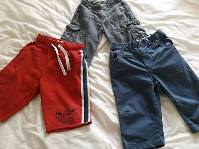 Boys shorts : 3 pairs (aged 7 years) - various makes and colours