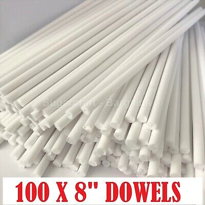 "100 x 8"" Long CAKE DOWELLING Rods Support Tiered Cakes Sugarcraft DOWELS DOWELS"
