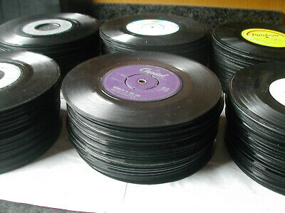 "Job Lot 40 X 7"" Singles - All Ages - No Sleeves - Jukebox/Upcycling - Post Free"