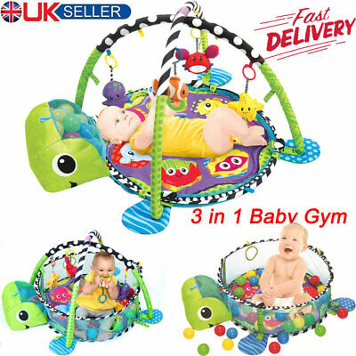 Large Turtle Baby Gym Floor Play Mat Fitness Activity Center Ball Pit Toy Party
