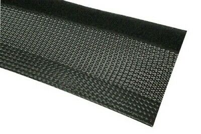 Braided Hose Touch Fastener 7-8mm Bunch Black Fabric Hose