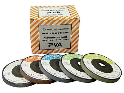 "4/"" Slayer PVA Polishing Discs Medium Grit 10 Pieces"