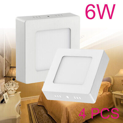 4x 6W LED Ceiling Panel Light Square Slim Recessed Flat Ultra Down Neutral White