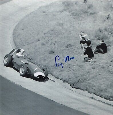 Stirling Moss Hand Signed 8x8 Photo - F1 Autograph.