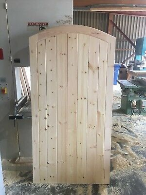 Wooden Garden Gate - Fully Jointed Arch Top ** FREE DELIVERY*ANY SIZE/STYLE*