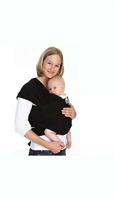 BABY SLING STRETCHY WRAP CARRIER, travel light and silky soft - Black
