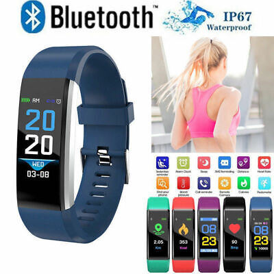 Fitness Smart Watch Heart Rate Activity Tracker Fitbit Android iOS Women Men Kid