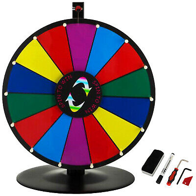 18'' Spinning Prize Wheel 46cm 14 Slots Color Trade Show Fortune Spin Game