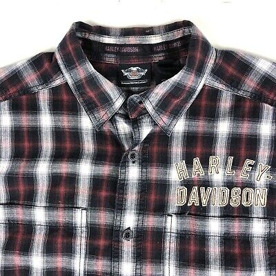 harley davidson Motorcycles Mens Button Shirt Size Large #1 Button Front