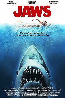"""New Jaws High Resolution Movie Poster size 24""""x36"""""""