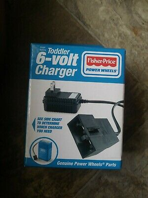 Geniune & New Fisher Price Power Wheels Toddler 6 Volt Vehicle Battery Charger