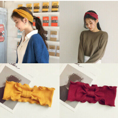Lady Girls Wave Knitted Headband Gift Korean Knotted Hair Band Hair Accessor KQ