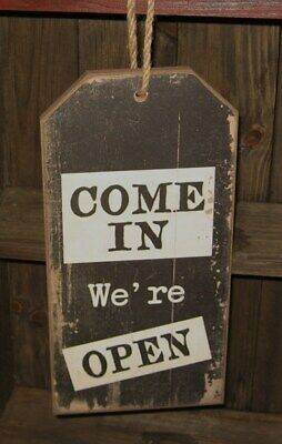 OPEN/CLOSED Wood SIGN*Primitive Home/Office/French Country Farmhouse Decor*NEW!