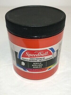 Speedball Art Products 4625 Acrylic Screen Printing Ink Fire Red 8Oz